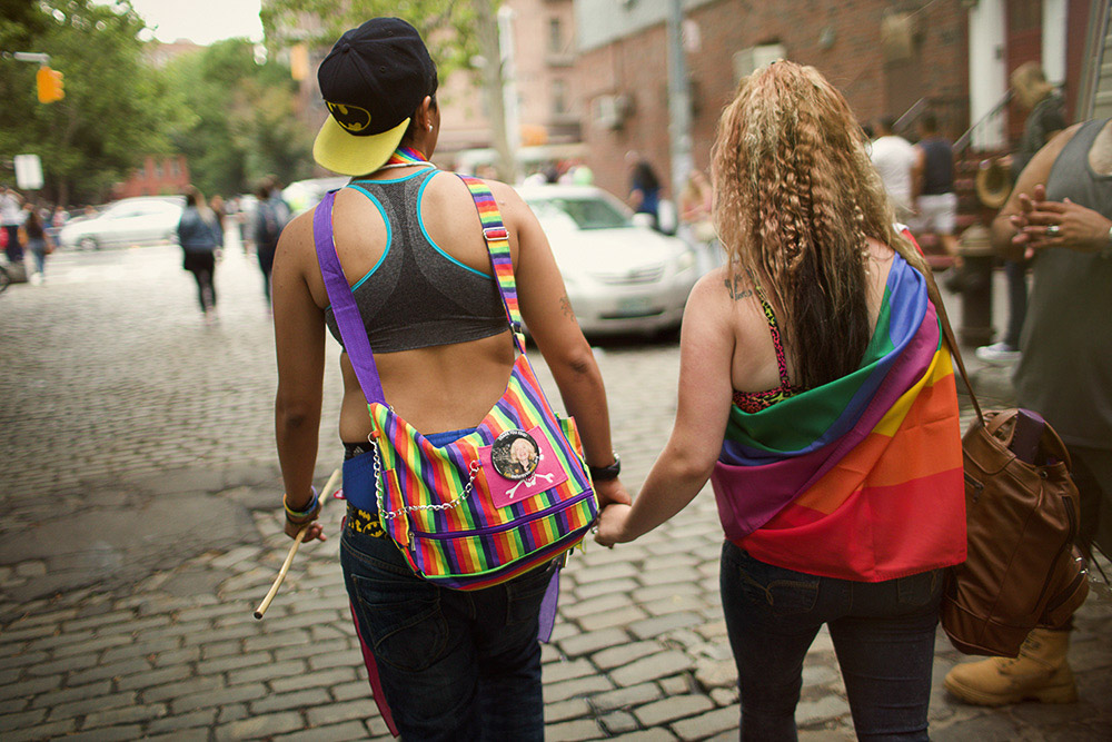 a couple at Pride NYC