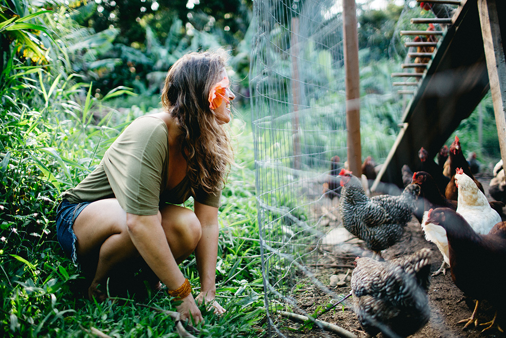 Angel Green shares her love for raw organic food at Hale Akua Garden Farm in Huelo, Maui.