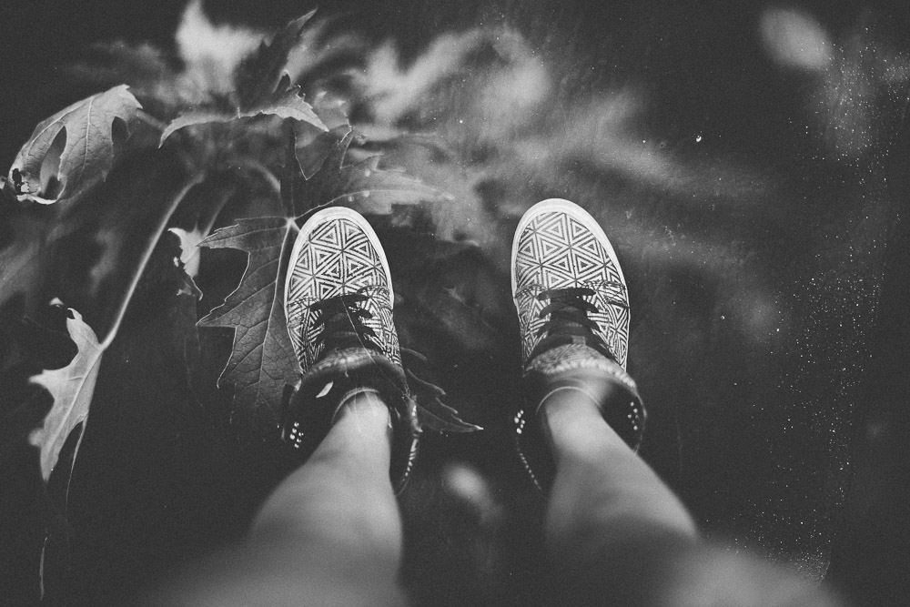 supras and leaves double exposure