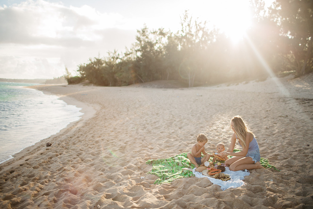 if you're looking for things to do on maui, have a picnic at baby beach in Paia.