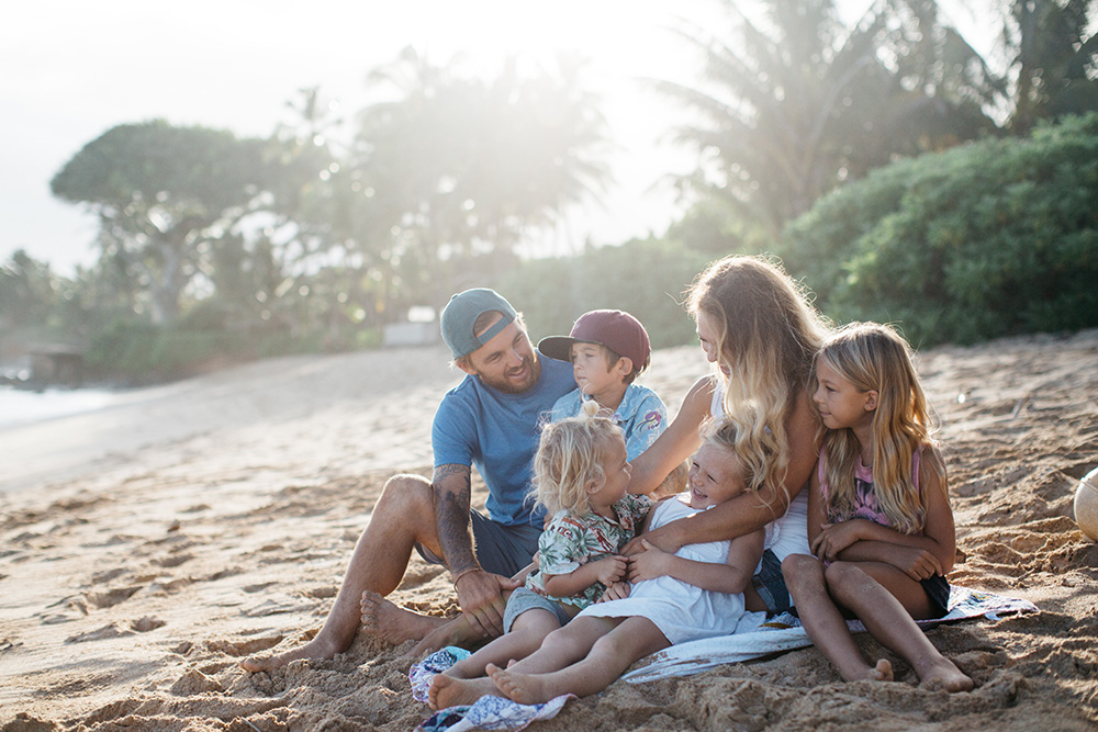 vegan family interview with chelsea jean, photos taken in paia, hawaii.