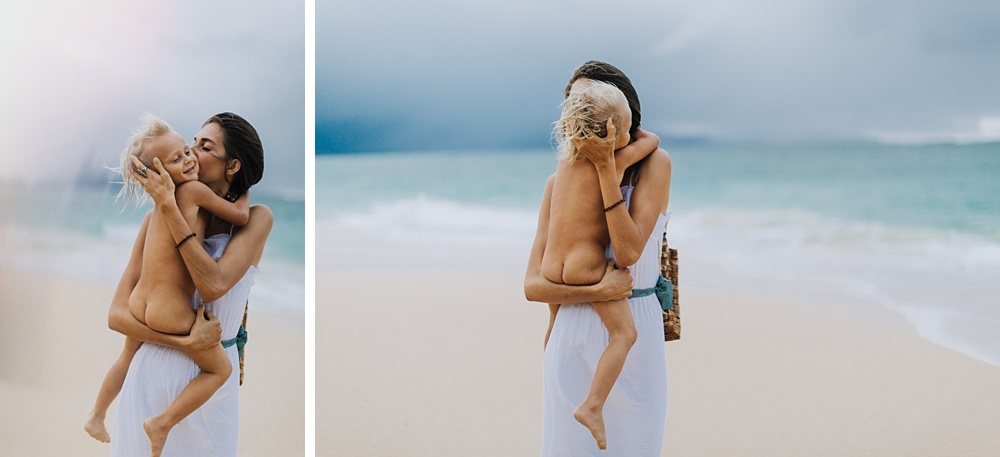 family photography at baldwin beach in paia, hawaii.