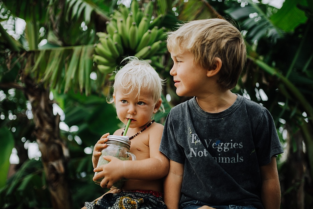 raising vegan babies, ellen fisher on Maui