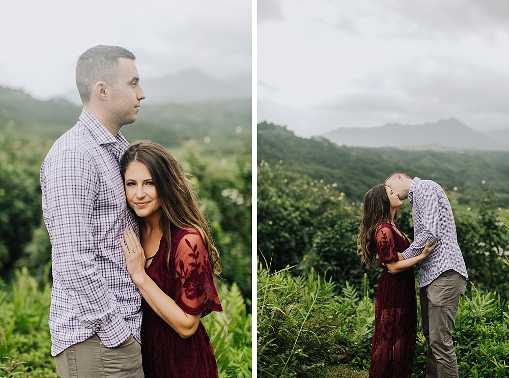 kauai engagement photography in hanalei, hawaii.