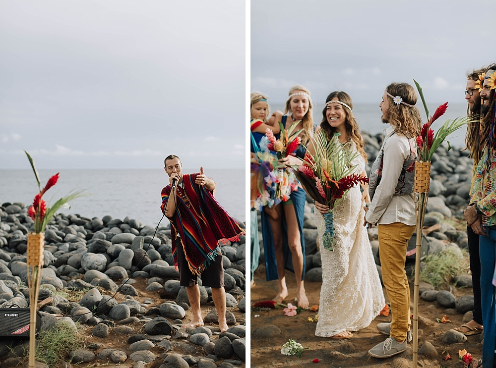 gypsy halos boho wedding photography in maui, hawaii.