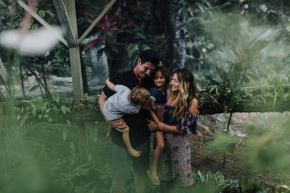 maui family photography at sacred garden located in haiku, hawaii.