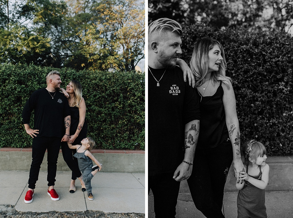 family photographer with tattoo family in los angeles.
