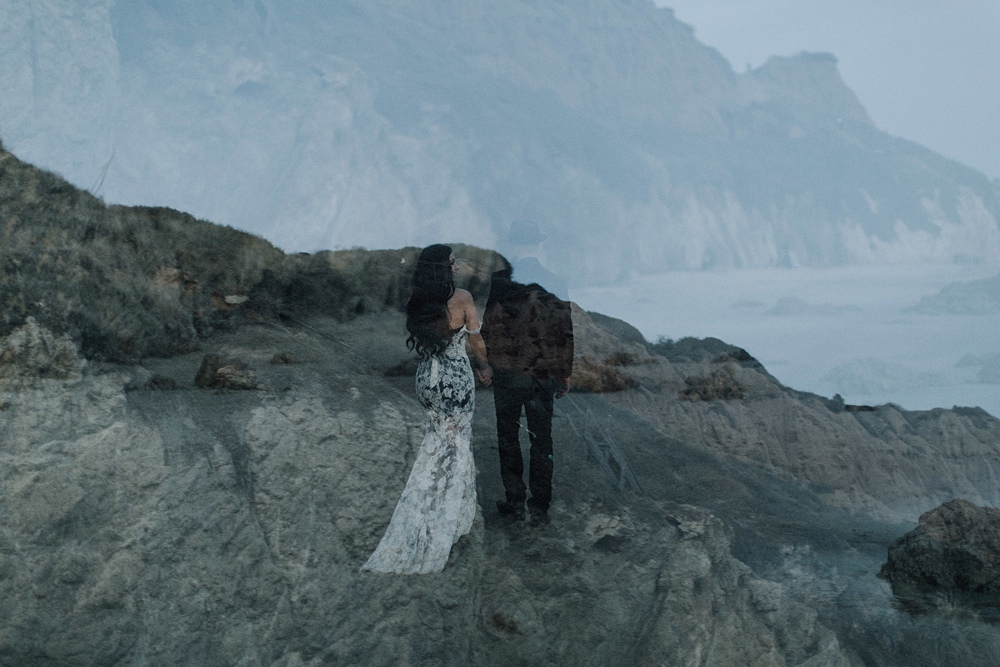 malibu elopement at el matador beach