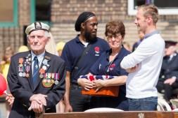 Proud veteran image taken in