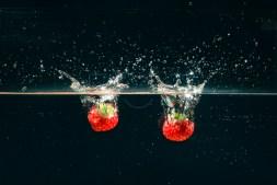 Strawberry Water Splash image taken in October