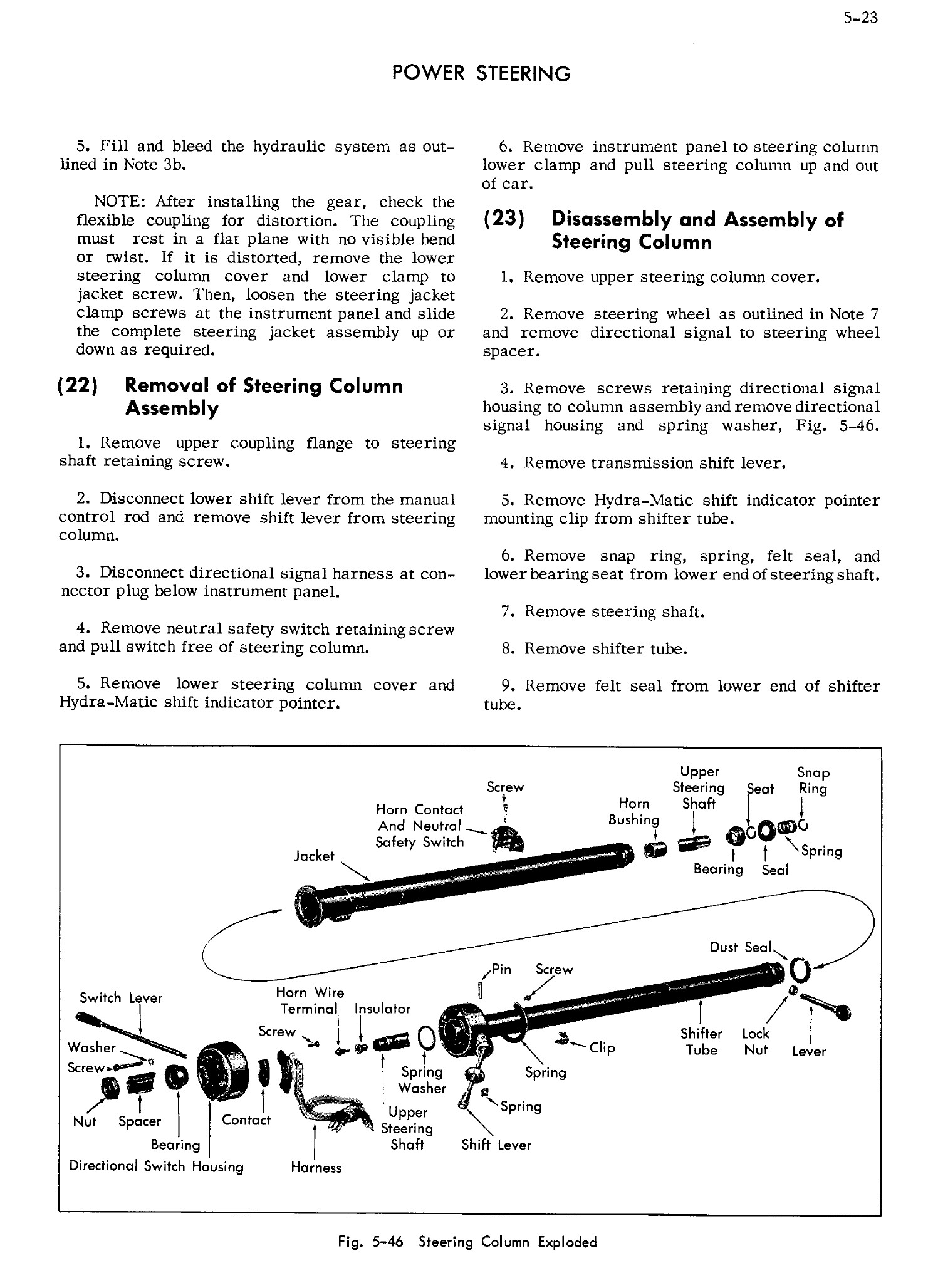 Cadillac Shop Manual Power Steering Page 23 Of 26