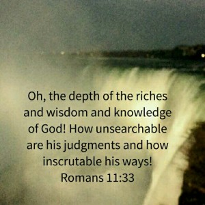 Mind of God depth and riches