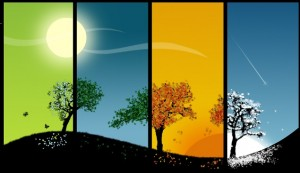 Seasons all flow into one another