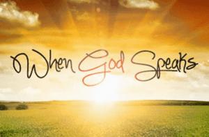 God speaks His Voice
