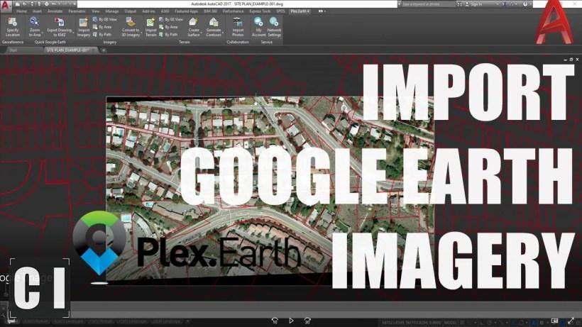 AutoCAD Tutorial: Insert, georeference google earth image - Plex