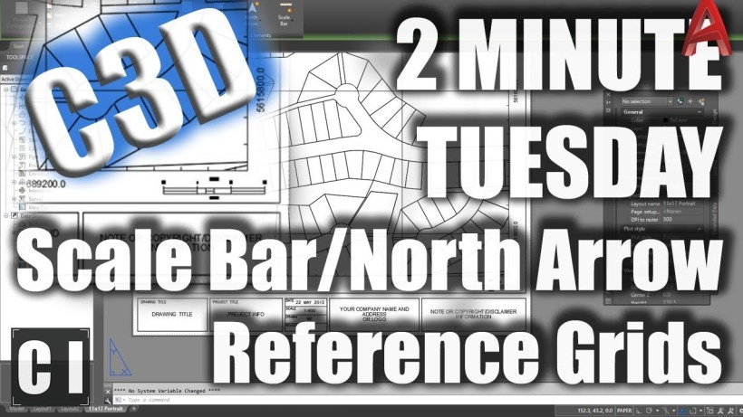 Civil 3D: How to add Dynamic Reference Grids, Scale Bars and