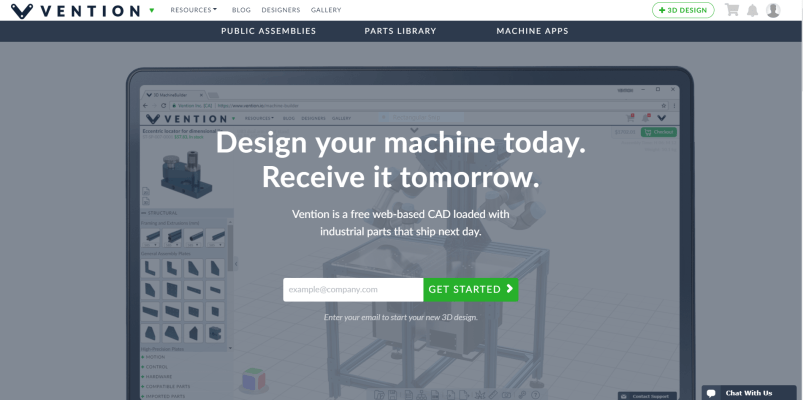 Vention io – A New Cloud-Based CAD Assembly Software You