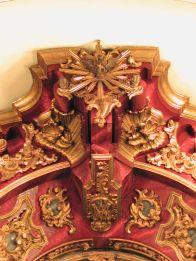 Retablo de la Patrona anterior a la última intervención. Fotografía tomada en 2005.