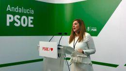 Comparecencia de Irene García en la sede del PSOE