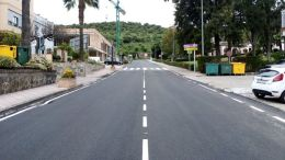 Carretera A-373 en el término municipal de Ubrique