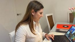 Irene Garcia en comision de coordinacion