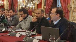 Hugo Palomares, en un Pleno provincial