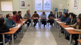 Alcaldes de IU Cádiz, en un encuentro reciente.