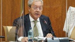 Rogelio Velasco, consejero de Economía, Conocimiento, Empresas y Universidad, durante su intervención