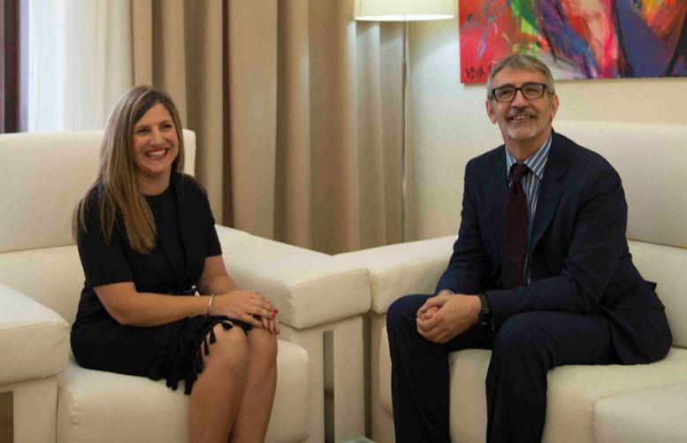 Irene García y Francisco Piniella