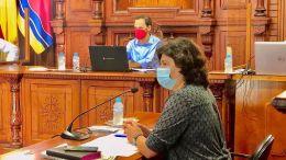 Carmen Álvarez en el último Pleno del Ayuntamiento