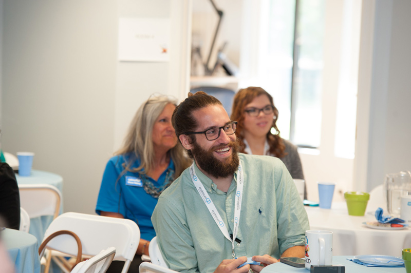 A CadCon 2015 attendee laughing.
