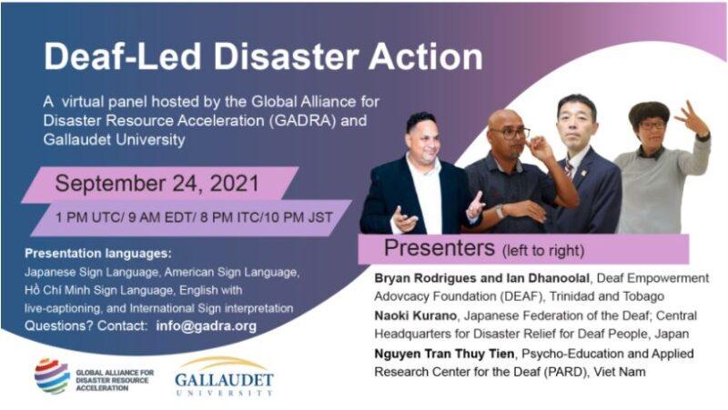Deaf-led Disaster Action Flyer