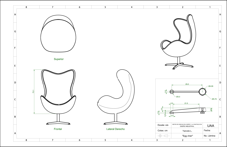 Jacobsen Egg Chair Blueprint