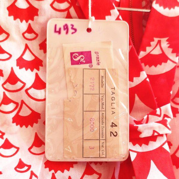 vestito smanicato anni '60 dettaglio del cartellino