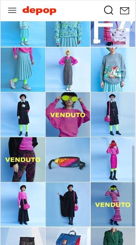 screenshot shop Interno 3 Vintage su Depop