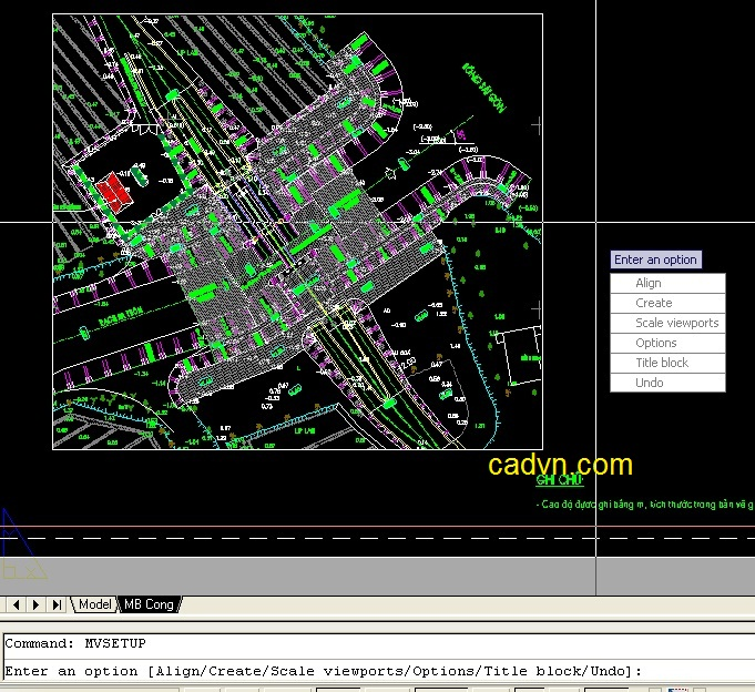 một số lệnh về layout trong autocad