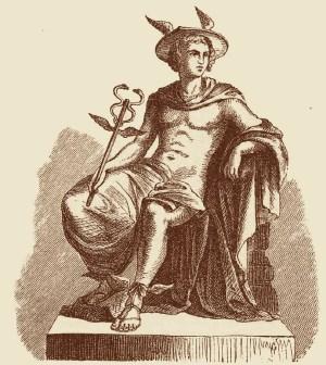 Hermes-mercurio-mitologia-caduceo-dibujo