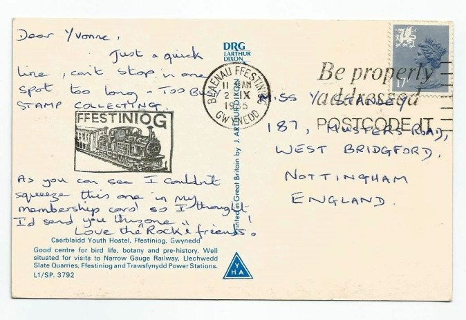 CaerBlaidd Postcard 1965