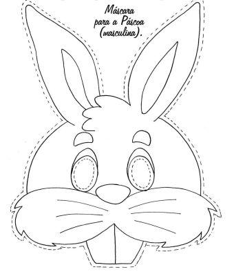 mascaras orelha coelho de pscoa espao educar molde 1