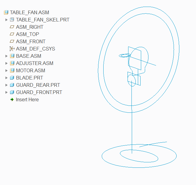 Single Skeleton Model for Multi Level Assembly