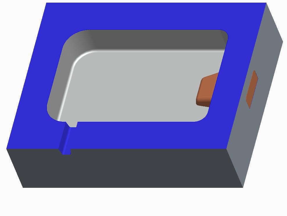 Cavity with slider