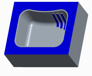 Cavity half for plastic part