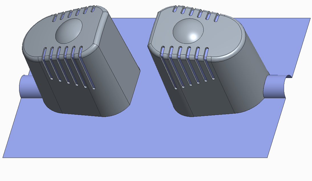 Building parting surface for multi-cavity mold