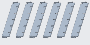 Pattern of plastic parts for a multi-cavity mold