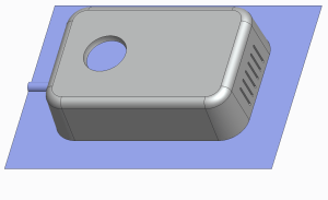 Molded part with undercuts
