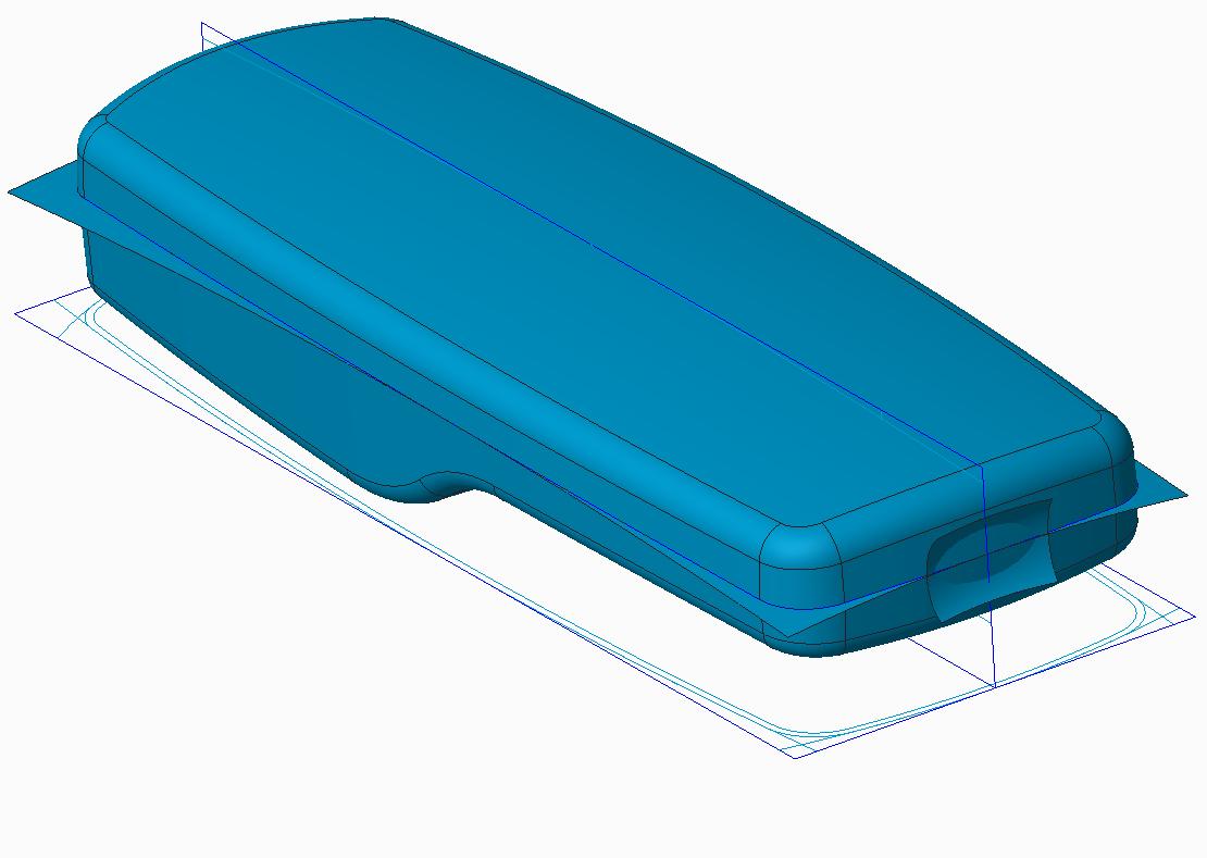Skeleton model for top down design assembly