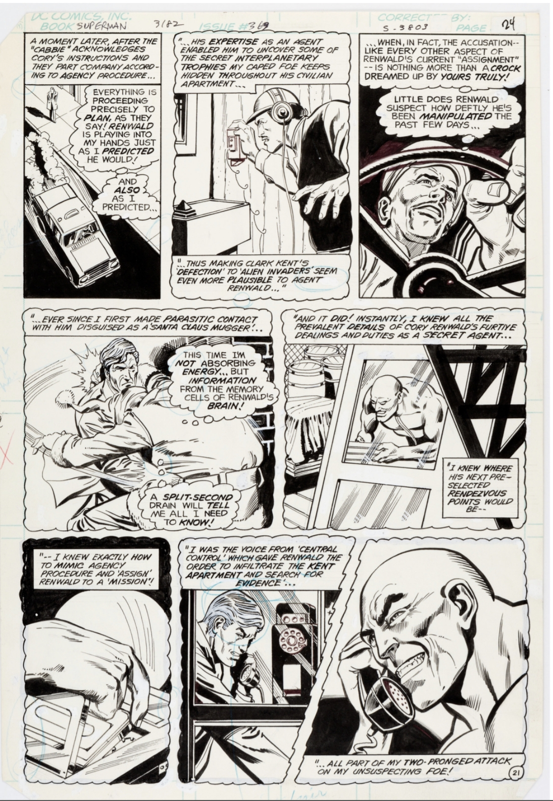 Superman 369 Story Pages 21 Dc Rich Buckler