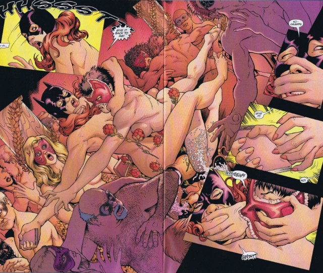 Batman Confidential 18 Batgirl Vs Catwoman Double Page Spread By Kevin Maguire
