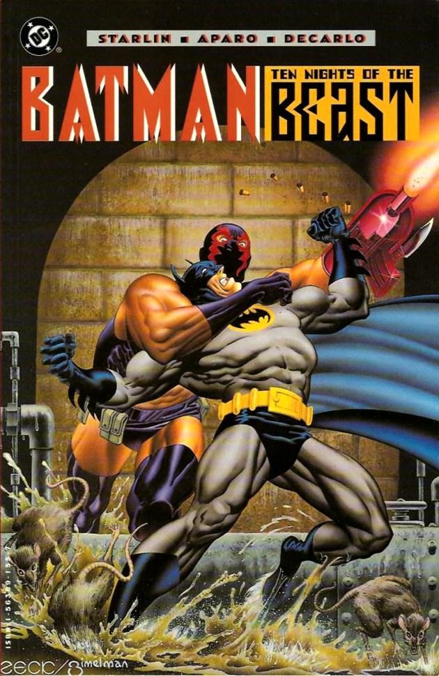 Capa antiga do TP Batman Dez Noites da Besta, volume a ser relançado pela Panini. Arte de Mike Zeck.