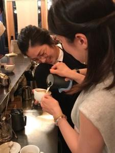 cafe cupola mejiro ラテアート体験講習会3
